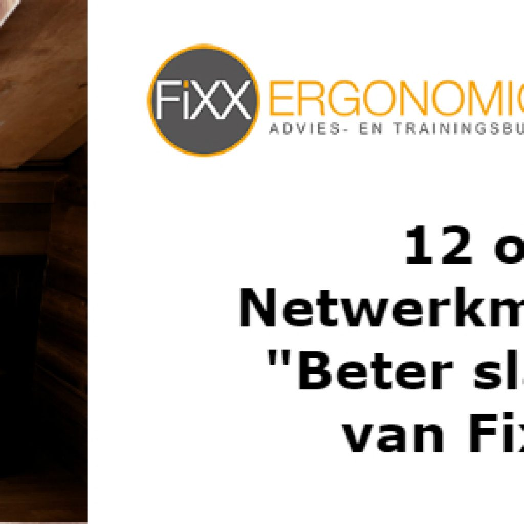 Netwerk meeting Utrecht Business Club Fixx Ergonomics
